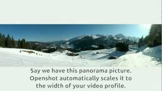 Openshot pan & zoom tutorial to animate a panoramic image