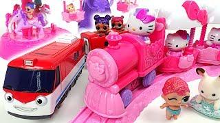 Hello Kitty theme park with ferris wheel, merry-go-round! Titipo Titipo surprise egg! - PinkyPopTOY