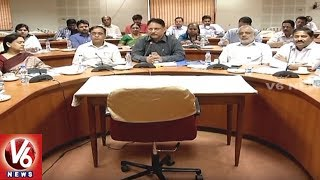 CS SP Singh Holds Video Conference With District Collectors | Govt Schemes Implementation | V6 News