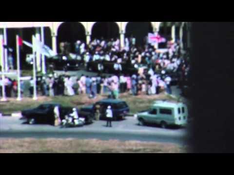 Queen Elizabeth II visiting Abu Dhabi in 1979