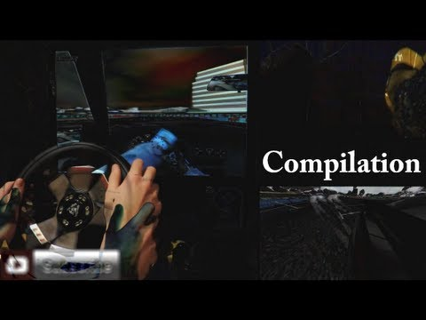 Logitech G27 Gameplay best Racing Steering wheel. Games - compilation montage. 2014 hd