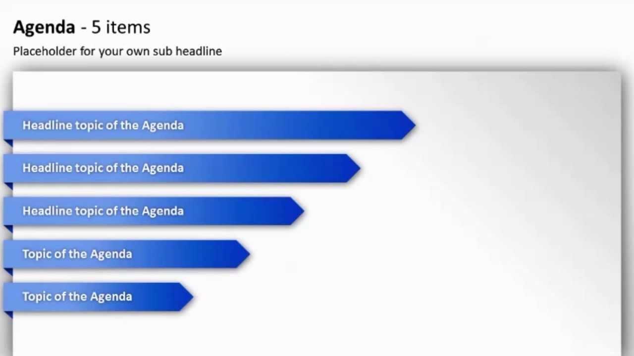 powerpoint agenda toolbox  english version