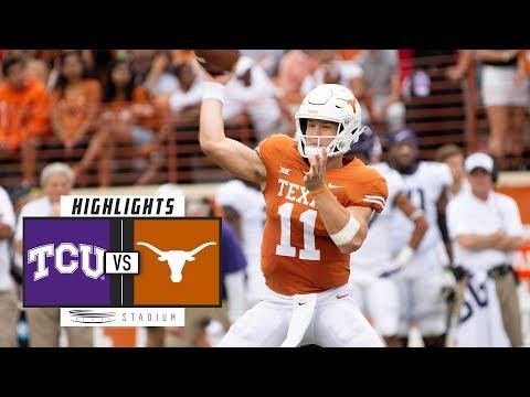 No. 17 TCU vs Texas Football Highlights (2018) | Stadium