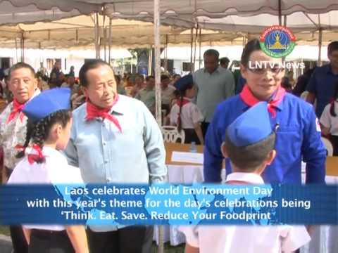 Lao NEWS on LNTV-Laos Celebrates World Environment Day. 6/6/2013