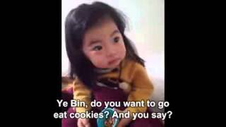 Parents Trying to Teach Adorable Girl to Say No