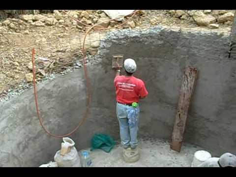 Cisterna de ferrocemento para 30 mil lt de agua de lluvia for Estanques para almacenar agua potable