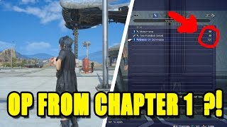 FINAL FANTASY XV - HOW TO GET 2 GREAT WEAPONS  AT START OF GAME !!