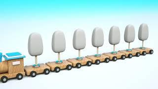Learn Colors Soccer Balls Ice Cream Popsicles for Kids - Wooden Train Toys for Children