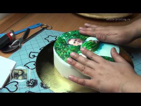 Декор гель для вафельной картинки своими руками видео