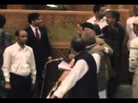 Fight In J&k Legislative Assembly - Speaker Abusing video
