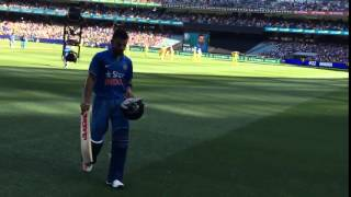 Virat Kohli walks off the ground after 24th ODI century