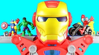 Awesome New Iron Man Headquarters Playset Toy Review + Playskool Heroes Hulk Gamma Chamber