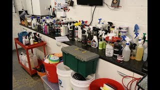 From 5000 detailing products down to essentials - Complete Garage Clear out