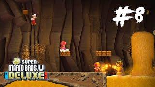 New Super Mario Bros U Deluxe #8 | PTBR - A Caverna Obscura