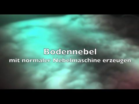 Bodennebel mit normaler Nebelmaschine erzeugen