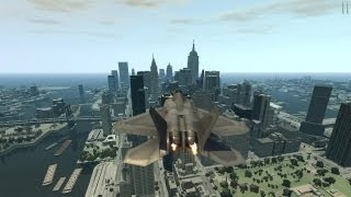 Grand Theft Auto IV - F-22 Raptor (WORKING SOUNDS/THRUSTERS) (MOD) HD