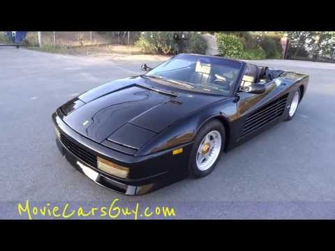 Movie Car Famous Miami Vice Tv Show Cars Don Johnson Exotic Film Cars Video Review video