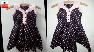 how to cut stylish frock kids frock | baby frock cutting tutorial | designer frock cutting