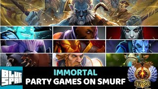 BLUE SPAN IMMORTAL PARTY GAMES ON SMURF DOTA 2 STREAM