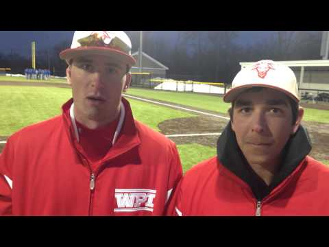 WPI Baseball Post-Game Interview - Sean Kelly and Zach Blanchard