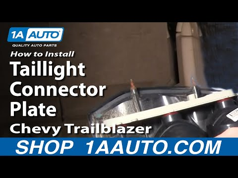 How To Install Repair Replace Taillight Connector Plate Chevy Trailblazer 02-09