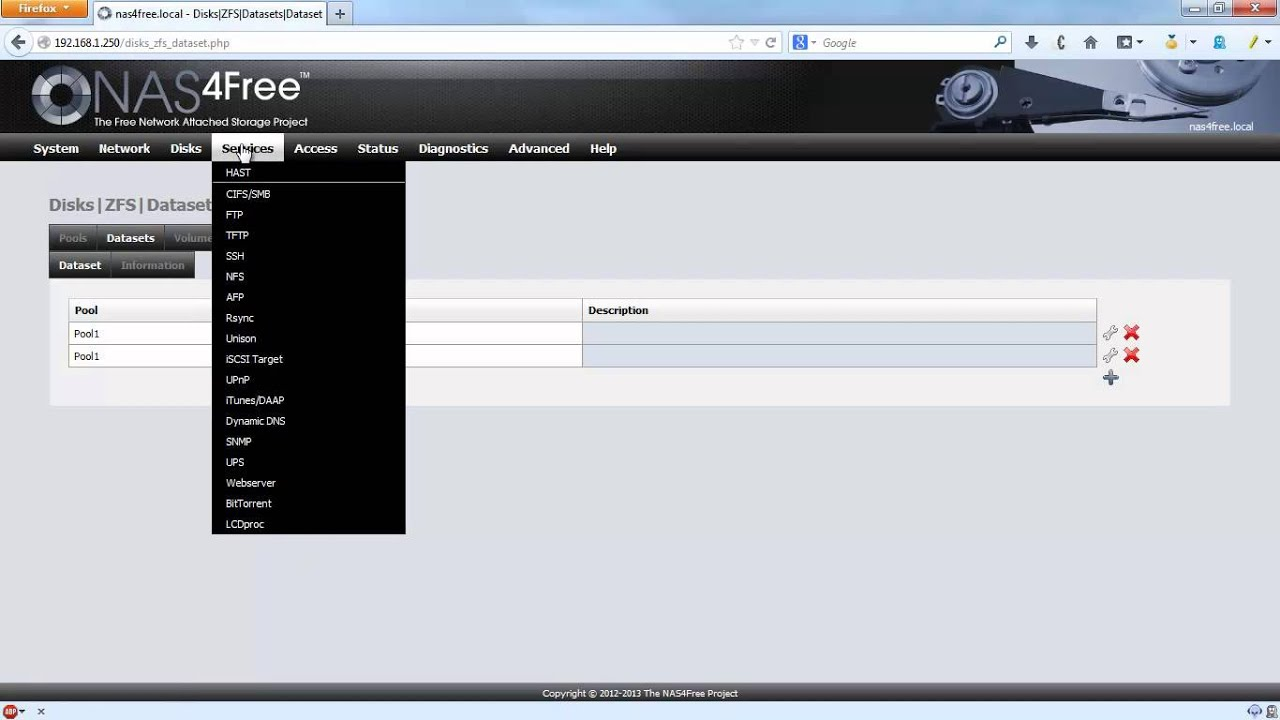 Nas4free owncloud upload directory