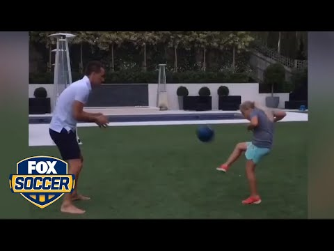 John Terry trains with his daughter