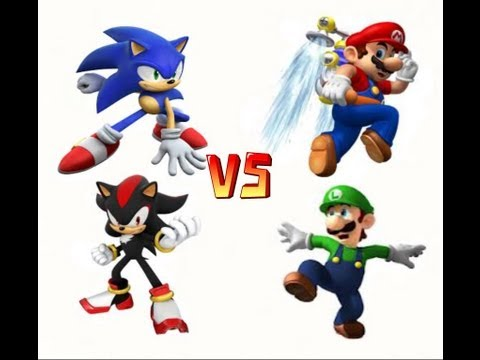 Mario y Luigi vs Sonic y Shadow