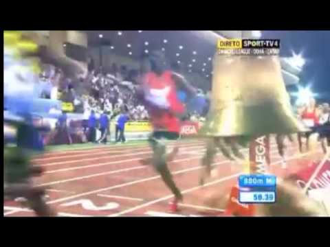 800 METROS. DOHA. DIAMOND LEAGUE 2012. RUDISHA 1:43.10