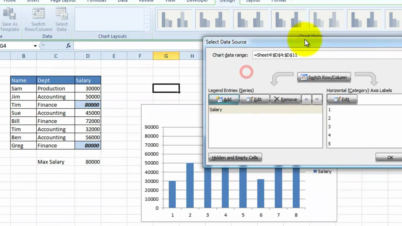 ... How to create graphs or charts in Excel 2010 (Charts 101) - YouTube
