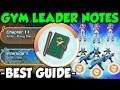The ULTIMATE Pokemon Masters Gym Leader Notes Guide! Gym Leader Notes Farming
