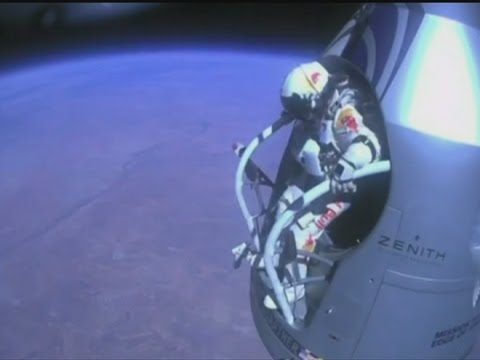 Space jump: Felix Baumgartner describes his record-breaking skydive