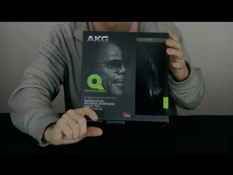 Unboxing AKG Q701 Quincy Jones Reference Headphones - ASMR