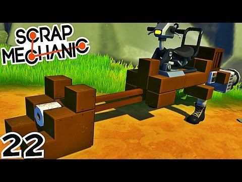 CONSTRUCTION DE LA MOTOJET DE STARWARS ! | Scrap Mechanic ! #Ep22