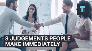 8 science-backed judgment calls people make after meeting you