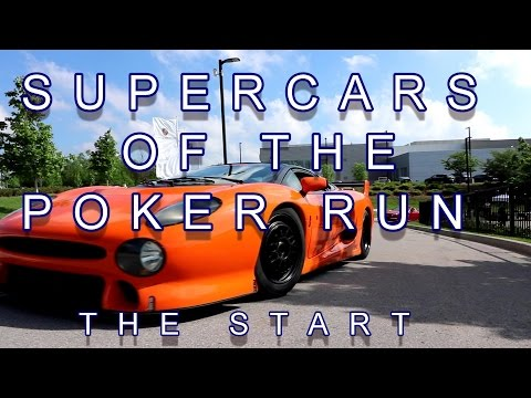 SUPERCARS OF THE POKER RUN, PART 1, THE START