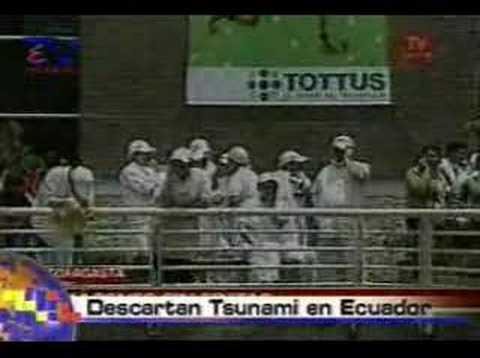 Descartan la presencia de tsunami en el Ecuador