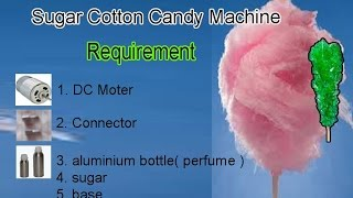 how to make sugar cotton candy machine rs 50 at home