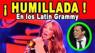 Thalia Humillada En Los Latin Grammy Por Culpa De Luis Miguel