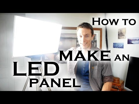 How to make a super bright LED light panel (for video work etc)