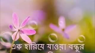 এক হারিয়ে যাওয়া বন্ধু   Keno Barle Boyos Chotto Belar Bondhu Hariye Jai : Recitation