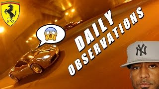 DAILY OBSERVATIONS #32 - CRASH SCOOTER, FERRARI & GIVRE