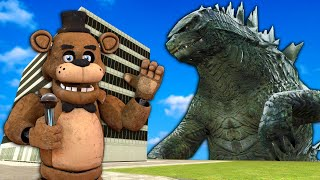 Godzilla Destroyed My Model City in Gmod! - Garry's Mod Multiplayer Survival