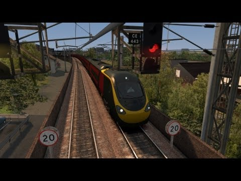 LET´S PLAY Train Simulator 2013 Folge 38 West Coast Main Line | Class 390 von Rob spielt