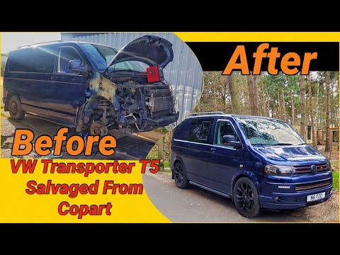 VW Transporter T5 Conversion Project Salvaged Vehicle Part 1