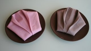 Servietten falten: Smoking napkin folding Smoking
