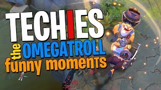 Techies the OMEGATROLL - DotA 2 Funny Moments