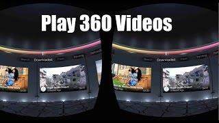 Download Watch 360 MP4 Video Files on Samsung Gear VR 3Gp Mp4