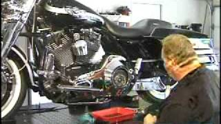 how to change primary oil on a harley softail