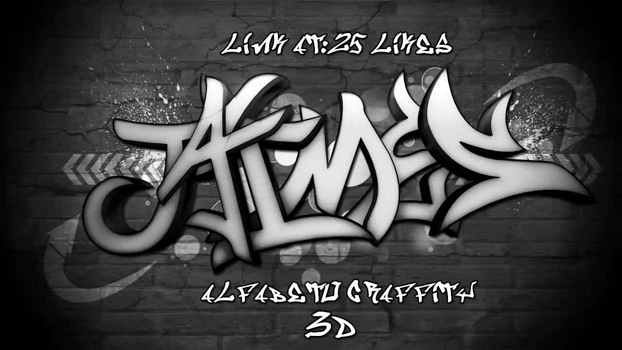 Alfabeto de Letras Graffitis Alfabeto Graffiti 3d-2d
